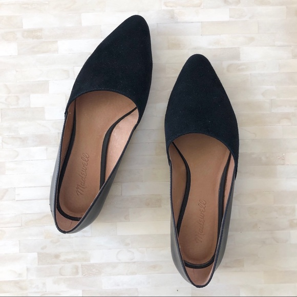 Madewell Lizbeth Flat Suede And Leather